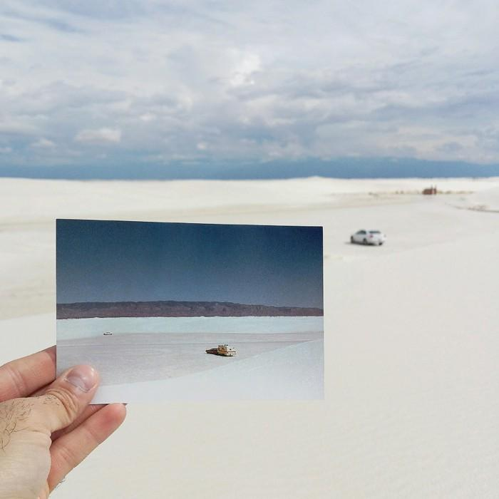 White Sands National Monument | April 1979 & October 2014 Quelle: http://pastpresentproject.com/