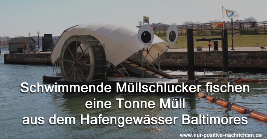 Schwimmender Müllschlucker befreien Baltimores Gewässer von Müll