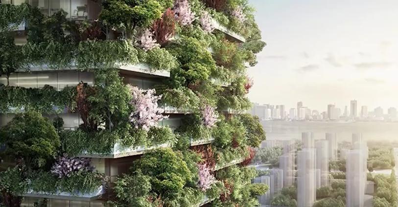 Asiens erster vertikaler Wald kann die Lösung für viele Verschmutzungsprobleme sein (Video)