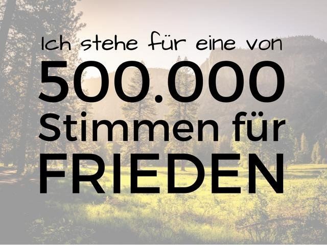 500.000 Stimmen für Frieden